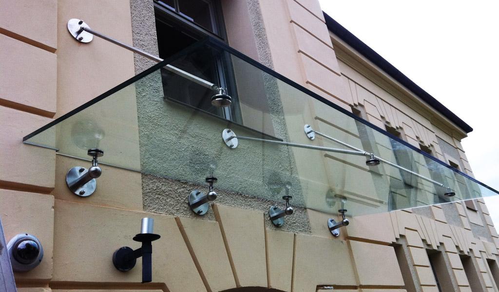 Glasdach vordach